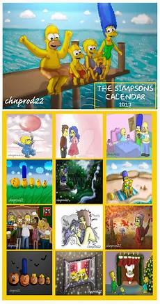 the simpsons calendar 2017 by chnprod22 on deviantart