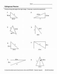 pythagorean theorem worksheet with video answers by lpcmath tpt