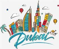 Cartoon Dubai City Building Vector PNG