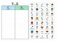 worksheets on sorting materials into groups class 6 7855 widgit materials magnetic or non magnetic by widgit software teaching resources tes