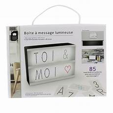 boite lumineuse a message home deco bo 238 te lumineuse 224 messages a5 85 lettres