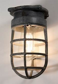 industrial cage light fixture for wall or ceiling signed crouse hinds nc1031 for sale