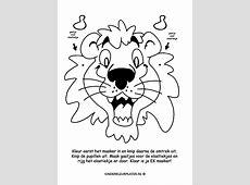 Kleurplaat: masker leeuw (SPELLETJES)