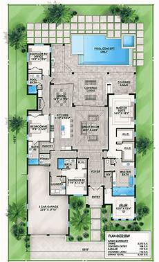 floridian house plans florida house plan with indoor outdoor living 86023bw