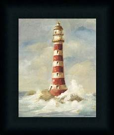 lighthouse ii by danhui nai coastal nautical framed art