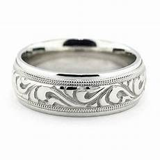 best selling men s carved wedding band paisley