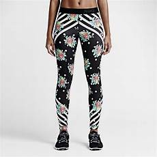 fitness klamotten damen nike pro midnight floral s tights nike