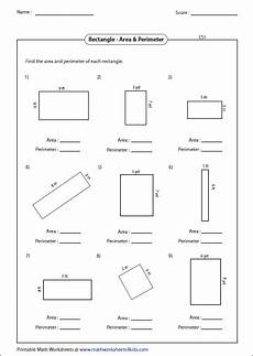 a review of area worksheet rectangle worksheets