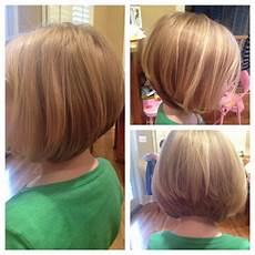 a fun graduation bob for finer hair great for little girls that get tangled easier daily