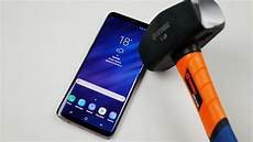 galaxy s9 plus samsung galaxy s9 plus hammer knife scratch test