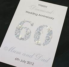Einladungskarten Diamantene Hochzeit - large handmade personalised 60th wedding