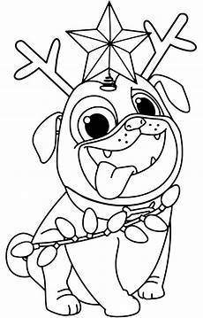 puppy pals rolly printable coloring page get