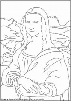 Malvorlagen Easy Coloring Model Of Mona Digital Drawing