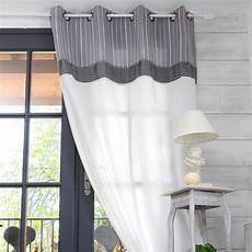 rideaux rayes gris et blanc rideau tamisant raye gris 135 x 250 clerina d 233 coration d