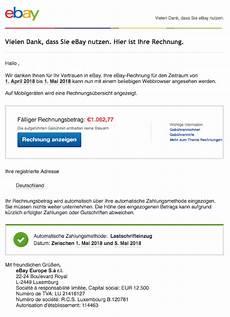 spam mail ihre ebay rechnung fur juli ist ab jetzt