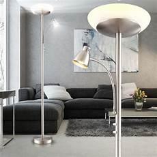 led deckenfluter standleuchte wohnzimmer lesele