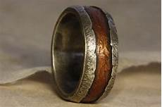 rustic man s ring of sterling silver and copper man s engagement ring wedding ring for men