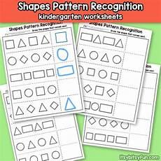 shapes patterns worksheets kindergarten 146 shapes pattern recognition for kindergarten itsy bitsy