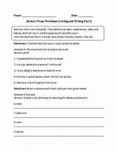nouns worksheets abstract nouns worksheets