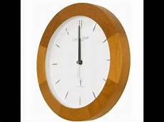 radio controlled light wood wall clock 27cm youtube
