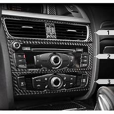 carbon fiber interior control panel cover trim for audi a4 b8 a5 air conditioning outlet