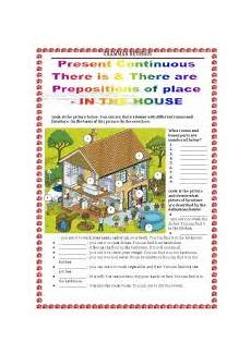 grammar worksheet there is there are with prepositions 25093 worksheets grammar revision there is there are present continuous prepositions of place