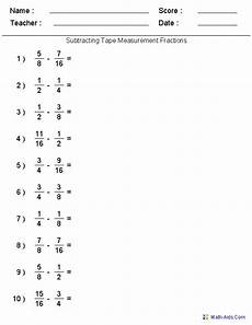 5th grade math worksheet subtracting fractions subtracting measure fractions worksheets worksheets