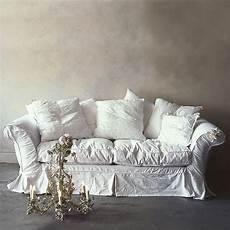 sofa shabby chic beautify your ikea sofa with custom skirt slipcovers