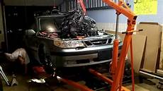 how does a cars engine work 2000 saab 42133 free book repair manuals 2000 saab 9 5 engine removal through top youtube