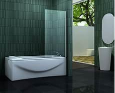 Duschtrennwand Badewanne Glas - esta 70 x 140 cm badewannen duschwand glas duschabtrennung