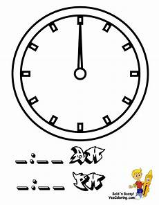 Malvorlagen Uhr Chords Fearless Hours Clock Coloring Clocks Free Telling Time