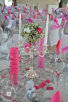 Decoration Table Mariage Blanc Et Fushia