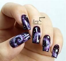 Purple Galaxy Nails With Tutorial Feat Zoya Payton
