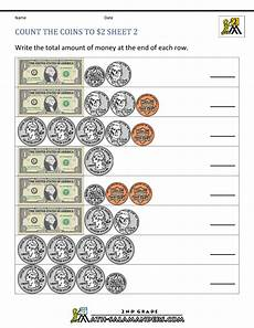 2nd grade money worksheets count the coins to 2 dollars 2 images frompo