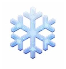 Transparent Background Snowflake Emoji ios emoji snowflake
