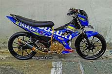 Satria Fu Modif Road Race by 45 Foto Gambar Modifikasi Motor Satria Fu Drag Race Style