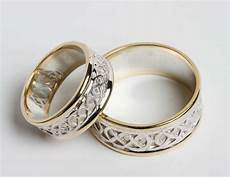 irish wedding ring sets pair of irish handcrafted 14k gold and sterling silver celtic wedding rings ebay