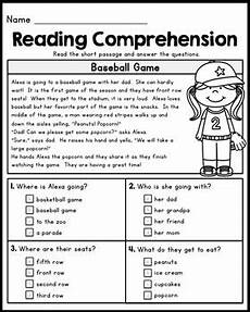 free first grade reading comprehension passages 1 by kaitlynn albani