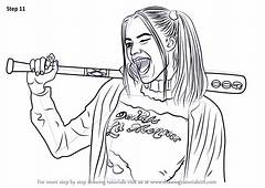 Step By How To Draw Margot Robbie As Harley Quinn