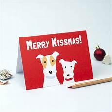 merry kissmas christmas card by forever foxed notonthehighstreet com