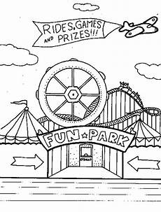 carnival rides free coloring pages