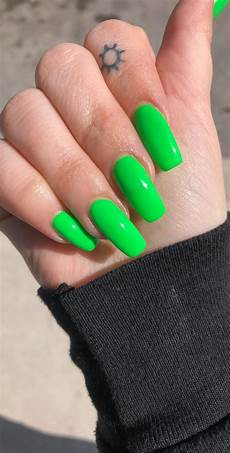 lime green nails nails