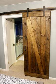 diy barn door easiest cheapest way to build a rustic barn door