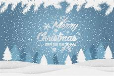 christmas and new year typographical background with winter landscape merry christmas card