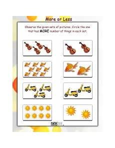 lkg math worksheets page 8