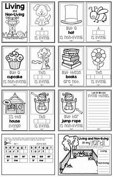 living and non living a build a word science book for k 1 science books kindergarten