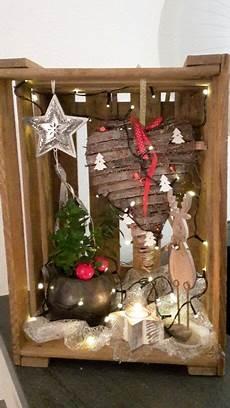Alte Weinkisten Dekorieren - weinkiste weihnachtlich dekoriert das sch 246 nste