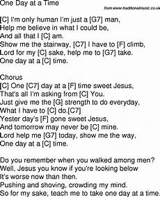 old time song lyrics with chords for one day at a time c in 2019 ukulele songs gospel song