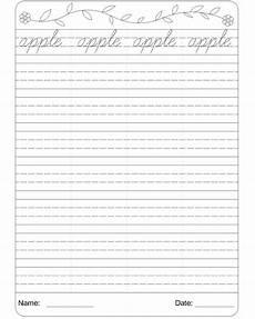 cursive writing worksheet 1