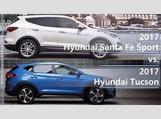 2017 Hyundai Santa Fe Sport vs 2017 Hyundai Tucson